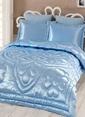 Kupon Home Çift Kişilik Yorganlı 6 P. Çeyiz Seti Mavi